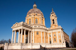 Superga Church. In Turin - Lateral view Stock Image