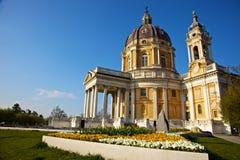 superga torino Италии di базилики Стоковое Фото