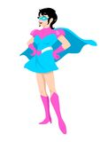 Supergirl. Illustration of a woman figure with superhero suit Stock Photos