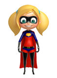 Supergirl con actitud divertida libre illustration