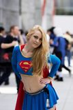 Supergirl Cosplay Imagem de Stock Royalty Free