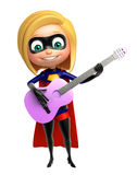 Supergirl with Guitar Royalty Free Stock Photo