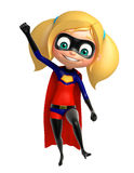 Supergirl med roligt poserar Royaltyfria Foton