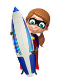 Supergirl with Surface Royalty Free Stock Photo
