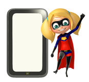 Supergirl with Tab Stock Photo