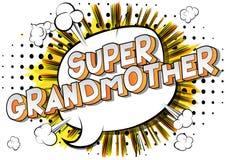 Supergroßmutter - Comic-Buch-Artwörter lizenzfreie abbildung