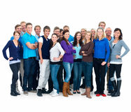 Supergroup - Many different people standing Royalty Free Stock Image
