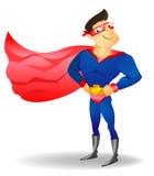supergullig hjälte för tecknad filmtecken Arkivfoton