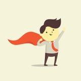 supergullig hjälte för tecknad filmtecken stock illustrationer