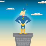 supergullig hjälte för tecknad filmtecken också vektor för coreldrawillustration Fotografering för Bildbyråer