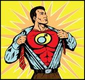 Superguy, das mit männlichem Symbol ändert Lizenzfreies Stockfoto