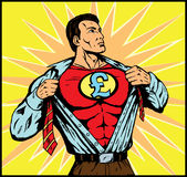 Superguy with Pound symbol Stock Photography