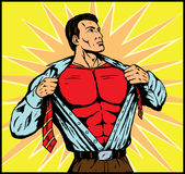 Superguy prêt pour l'action Image libre de droits