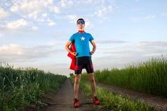 Superhéroe del hombre Foto de archivo libre de regalías