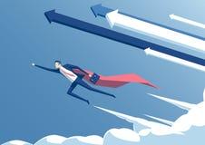 Superhéroe del negocio stock de ilustración