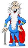 Superhéroe mayor con el cabo Imagenes de archivo