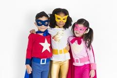 Superheld-Adoleszenz-Kinderkindersachkenntnis-Konzept Lizenzfreies Stockfoto