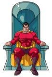 Superheld auf Thron Lizenzfreie Stockfotografie