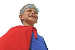 Superheld auf Weiß Stockbilder