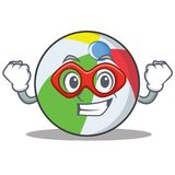 Superheld-Ballcharakter-Karikaturart Stockbilder