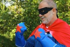 Superheld bereit zu kämpfen stockfotografie