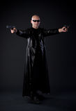 Superheld in der Matrixart Lizenzfreies Stockfoto