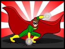 Superheld, der sich vorbereitet anzugreifen Lizenzfreie Stockbilder