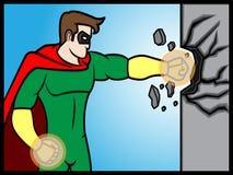 Superheld-Durchschlag Stockbilder