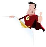 Superheld-Fahne Stockfotografie