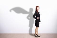 Superheld-Geschäftsfrau stockfotos