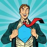 Superheld-Mannesgeschäftsmann Stockfotografie