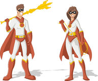 Superheld-Paare Stockbilder