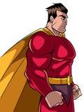 Superheld-Seitenprofil Lizenzfreie Stockbilder