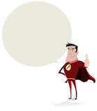 Superheld-Sprache-Luftblase Stockbild