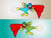 Superheld-Tritt Stockbilder