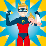 Superheld-Vati lizenzfreie abbildung