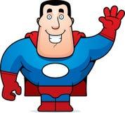 Superheld-Wellenartig bewegen Stockfoto