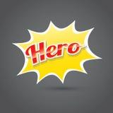 Superheldaufkleber oder -zeichen Lizenzfreies Stockbild