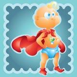 Superheldbaby Stockbild