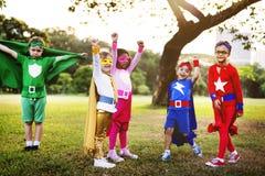 Superhelden Team Confidence Aspiration Concept lizenzfreies stockbild