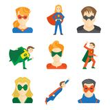 Superheldikone flach lizenzfreie abbildung