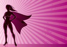 Superheldin-Hintergrund Lizenzfreie Stockfotografie
