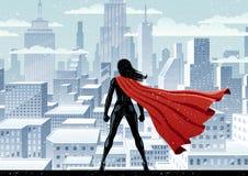Superheldin-Uhr Lizenzfreies Stockfoto