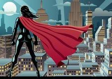 Superheldin-Uhr 3 Stockbild