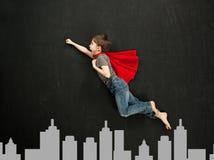 Superheldjunge stockbilder