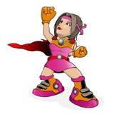 Superheldkarikaturvektor lizenzfreie abbildung