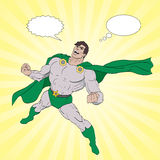 Superheldlachen Lizenzfreie Stockfotos