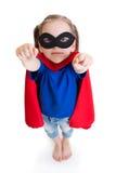 Superheldmädchen-Kinderträume über Fliegen lizenzfreie stockfotos