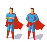 Superheldsatz Lizenzfreie Stockbilder