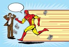 Superheldseitentrieb Lizenzfreie Stockfotos